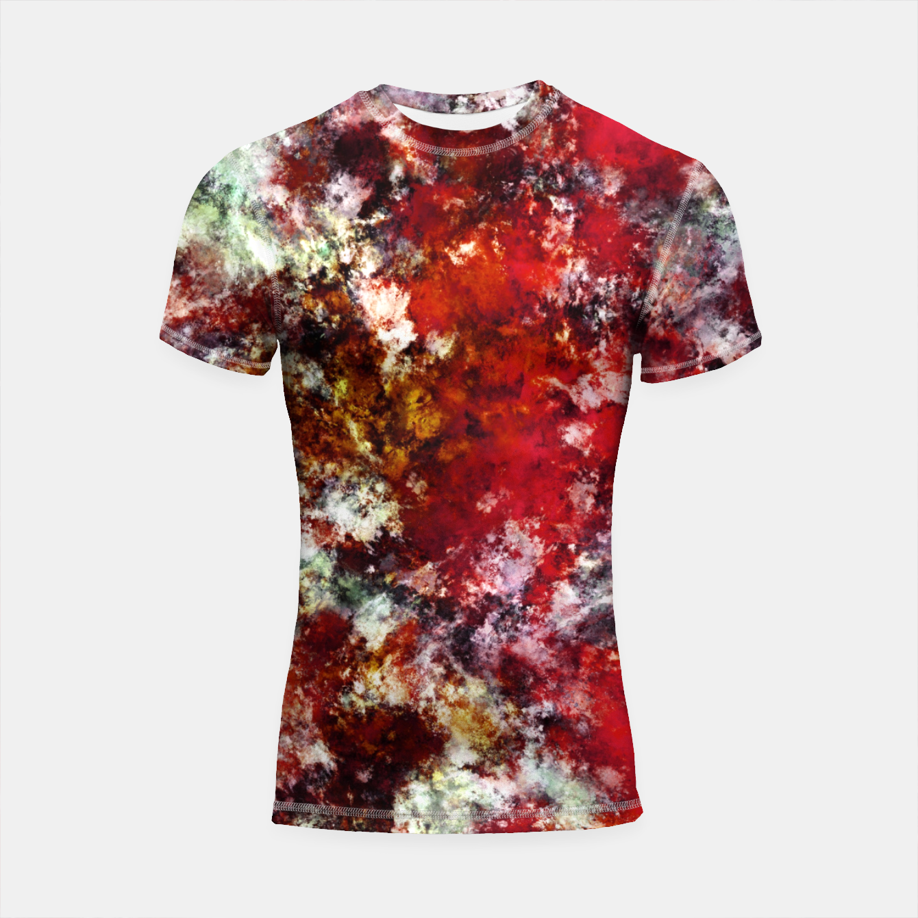 Image of The red crying rocky surface Shortsleeve rashguard - Live Heroes