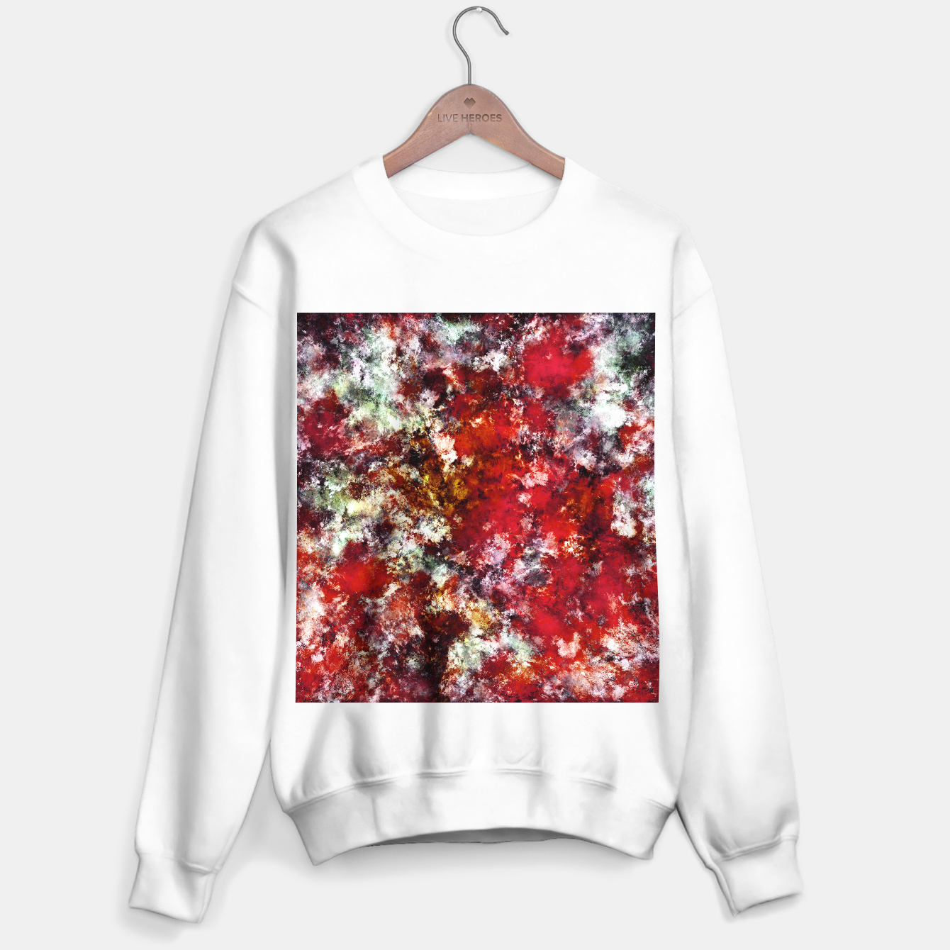 Image of The red crying rocky surface Sweater regular - Live Heroes