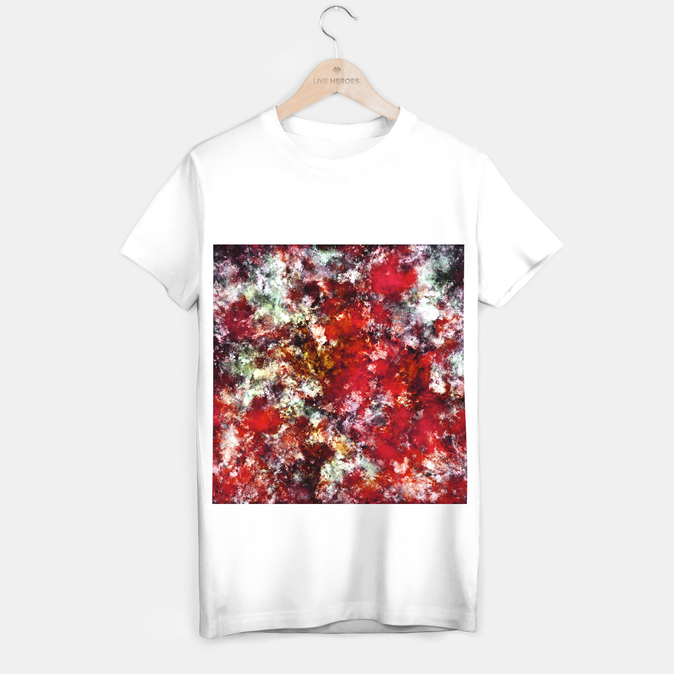 Image of The red crying rocky surface T-shirt regular - Live Heroes