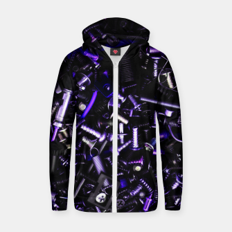 Thumbnail image of Blue Tech Zip up hoodie, Live Heroes