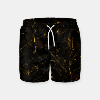 Thumbnail image of Golden tech Swim Shorts, Live Heroes