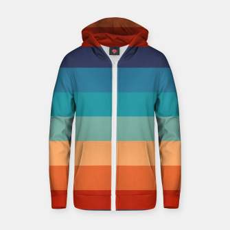 Rainbow Stripes Vintage Colors Old Style Colorful Geometric Zip up hoodie thumbnail image