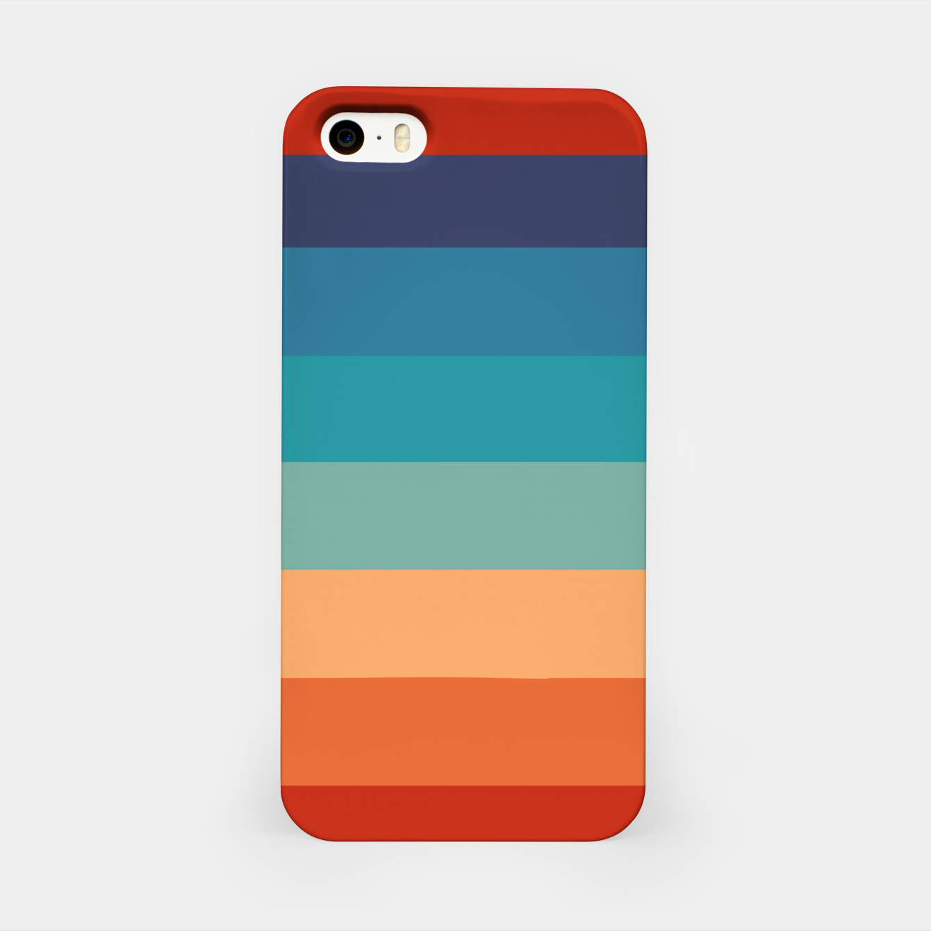 Image of Rainbow Stripes Vintage Colors Old Style Colorful Geometric iPhone Case - Live Heroes