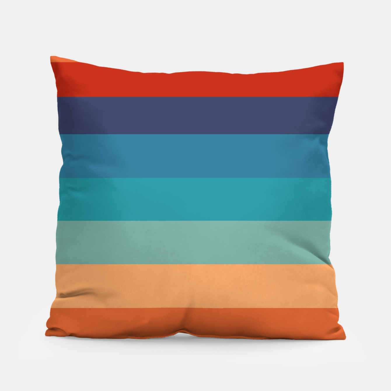 Image of Rainbow Stripes Vintage Colors Old Style Colorful Geometric Pillow - Live Heroes