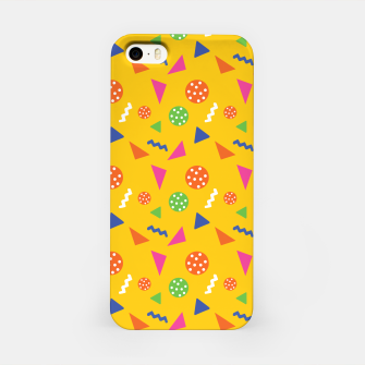 Miniatur Geometric Shapes Retro Colors Party Vibes Colorful Confetti iPhone Case, Live Heroes