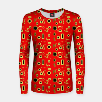 Thumbnail image of Geometric Jungle Women sweater, Live Heroes