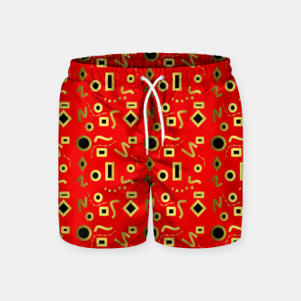 Miniaturka Geometric Jungle Swim Shorts, Live Heroes