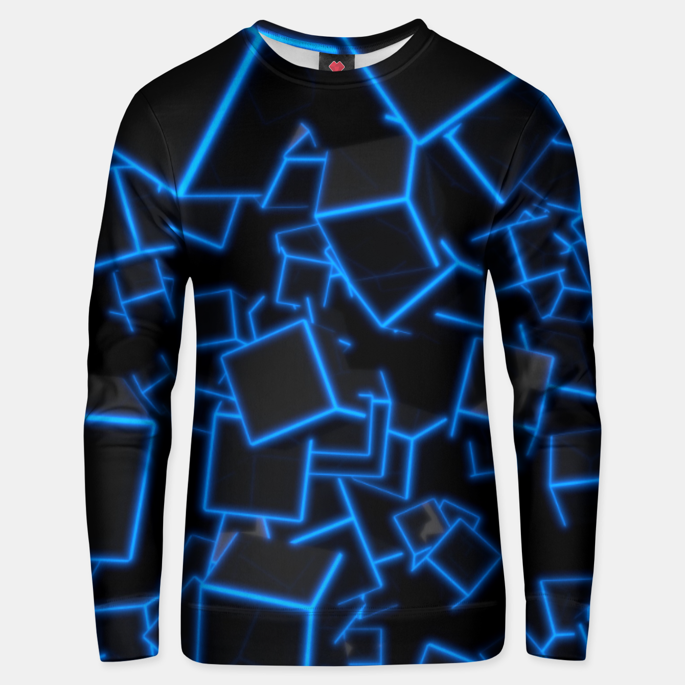 Image of Blue Neon Cubes Unisex sweater - Live Heroes