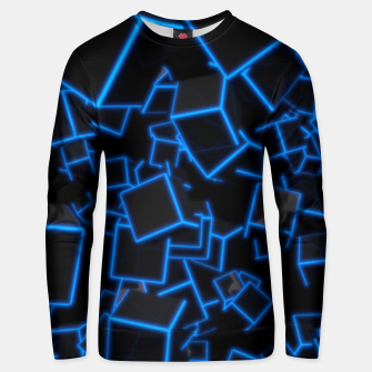 Thumbnail image of Blue Neon Cubes Unisex sweater, Live Heroes