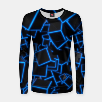 Thumbnail image of Blue Neon Cubes Women sweater, Live Heroes