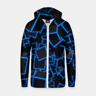 Thumbnail image of Blue Neon Cubes Zip up hoodie, Live Heroes