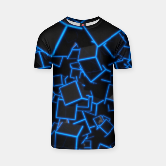 Thumbnail image of Blue Neon Cubes T-shirt, Live Heroes