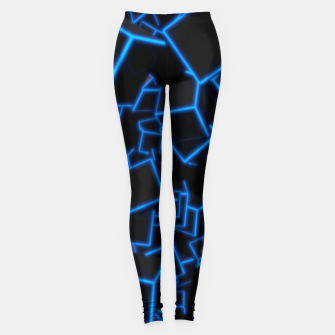 Thumbnail image of Blue Neon Cubes Leggings, Live Heroes