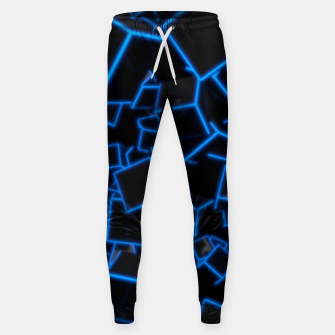 Thumbnail image of Blue Neon Cubes Sweatpants, Live Heroes