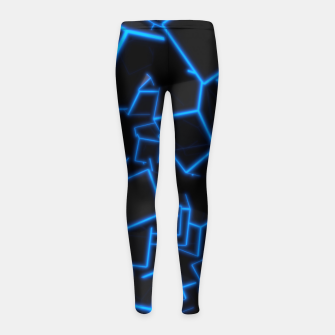 Thumbnail image of Blue Neon Cubes Girl's leggings, Live Heroes