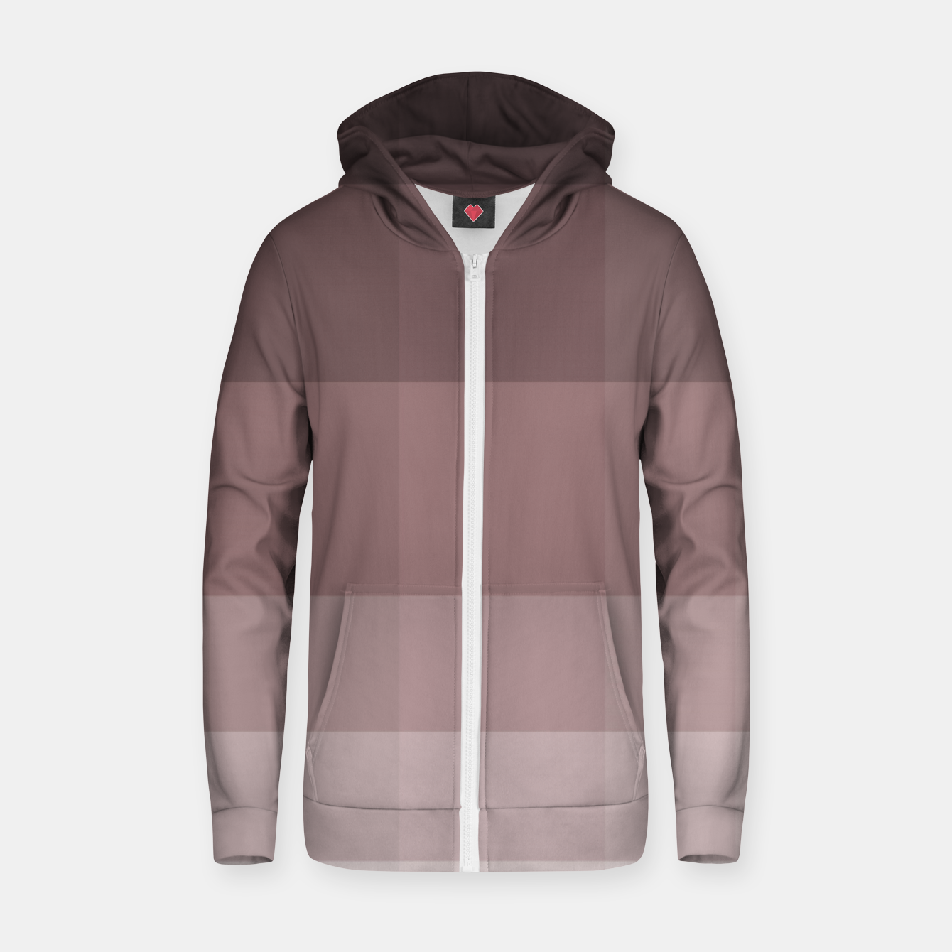 Image of zappwaits-pattern Zip up hoodie - Live Heroes