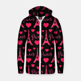 Thumbnail image of Paris France Eiffel Tower Lover Pink Hearts Glitter Zip up hoodie, Live Heroes