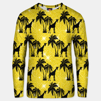 Thumbnail image of Giraffe Silhouette Tropical Palm Tree Leaves Zoo Animal Unisex sweater, Live Heroes