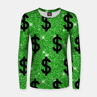 Black Dollar Sign Money Lover Entrepreneur Wall Street Women sweater miniature