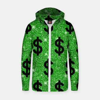 Black Dollar Sign Money Lover Entrepreneur Wall Street Zip up hoodie miniature
