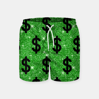 Black Dollar Sign Money Lover Entrepreneur Wall Street Swim Shorts miniature