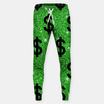 Black Dollar Sign Money Lover Entrepreneur Wall Street Sweatpants miniature