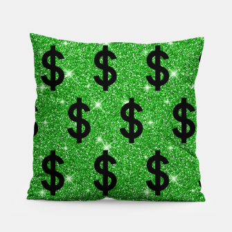 Black Dollar Sign Money Lover Entrepreneur Wall Street Pillow miniature