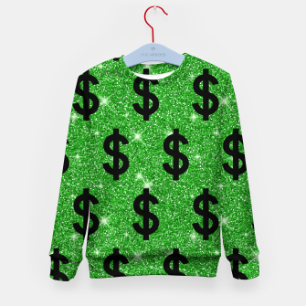 Black Dollar Sign Money Lover Entrepreneur Wall Street Kid's sweater miniature