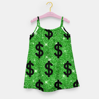 Black Dollar Sign Money Lover Entrepreneur Wall Street Girl's dress miniature