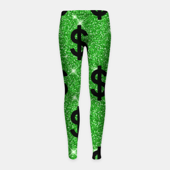 Black Dollar Sign Money Lover Entrepreneur Wall Street Girl's leggings miniature