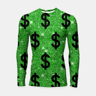 Black Dollar Sign Money Lover Entrepreneur Wall Street Longsleeve rashguard  miniature
