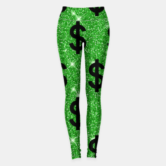 Black Dollar Sign Money Lover Entrepreneur Wall Street Leggings miniature