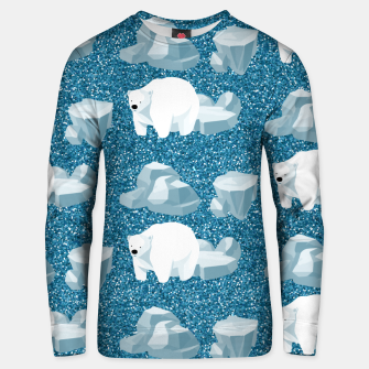 Thumbnail image of Cute White Polar Bear North Wild Animal Blue Cold Winter Unisex sweater, Live Heroes
