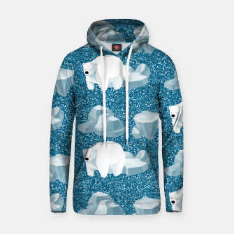 Thumbnail image of Cute White Polar Bear North Wild Animal Blue Cold Winter Hoodie, Live Heroes