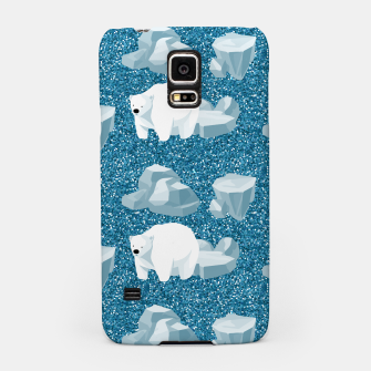 Thumbnail image of Cute White Polar Bear North Wild Animal Blue Cold Winter Samsung Case, Live Heroes