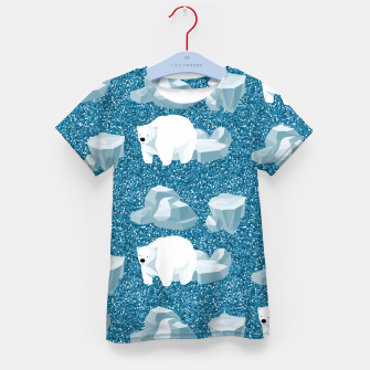 Thumbnail image of Cute White Polar Bear North Wild Animal Blue Cold Winter Kid's t-shirt, Live Heroes