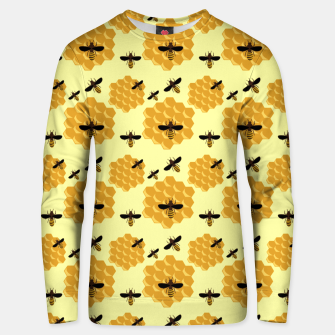 Thumbnail image of Honeycomb Honey Bees Insect Lover Yellow Beekeeper Unisex sweater, Live Heroes