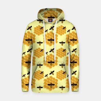Thumbnail image of Honeycomb Honey Bees Insect Lover Yellow Beekeeper Hoodie, Live Heroes