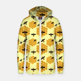 Thumbnail image of Honeycomb Honey Bees Insect Lover Yellow Beekeeper Zip up hoodie, Live Heroes