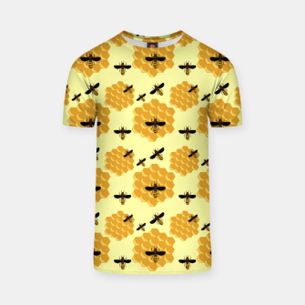 Thumbnail image of Honeycomb Honey Bees Insect Lover Yellow Beekeeper T-shirt, Live Heroes