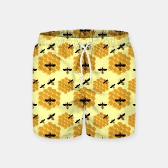 Thumbnail image of Honeycomb Honey Bees Insect Lover Yellow Beekeeper Swim Shorts, Live Heroes