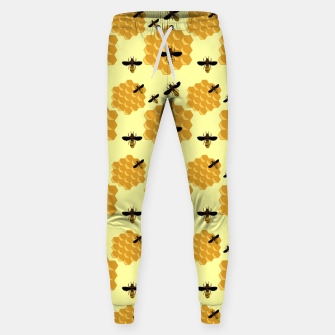 Thumbnail image of Honeycomb Honey Bees Insect Lover Yellow Beekeeper Sweatpants, Live Heroes
