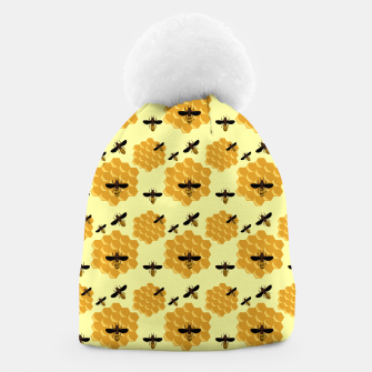 Thumbnail image of Honeycomb Honey Bees Insect Lover Yellow Beekeeper Beanie, Live Heroes