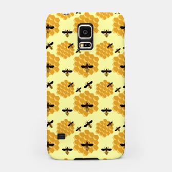 Thumbnail image of Honeycomb Honey Bees Insect Lover Yellow Beekeeper Samsung Case, Live Heroes