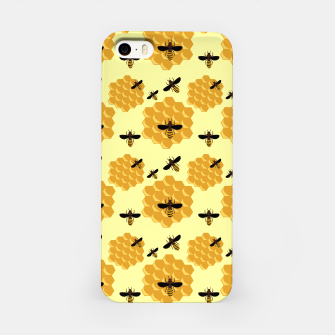 Thumbnail image of Honeycomb Honey Bees Insect Lover Yellow Beekeeper iPhone Case, Live Heroes