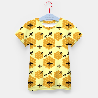 Thumbnail image of Honeycomb Honey Bees Insect Lover Yellow Beekeeper Kid's t-shirt, Live Heroes