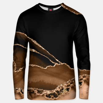 Thumbnail image of Faux Desert Brown Marbled Agate Contemporary Stone Unisex sweater, Live Heroes