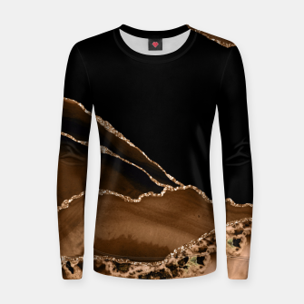 Thumbnail image of Faux Desert Brown Marbled Agate Contemporary Stone Women sweater, Live Heroes