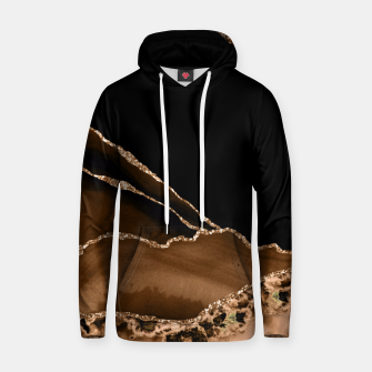 Thumbnail image of Faux Desert Brown Marbled Agate Contemporary Stone Hoodie, Live Heroes