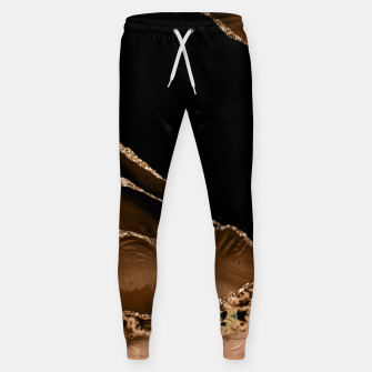 Thumbnail image of Faux Desert Brown Marbled Agate Contemporary Stone Sweatpants, Live Heroes